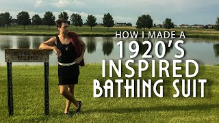 my1928 - I followed a 1920's men's bathing suit tutorial with no sewing required