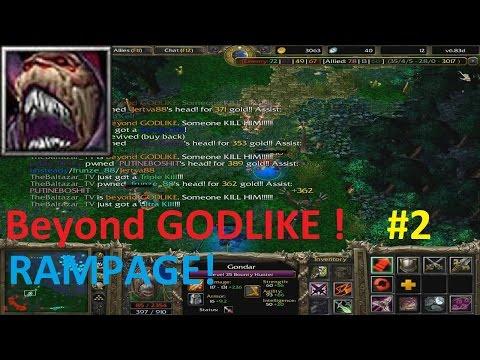 DotA 6.83d - Gondar, Bounty Hunter Beyond GODLIKE ! (RAMPAGE)
