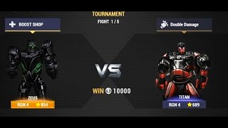 Real Steel Champions | TOURNAMENT | Zeus VS Titan NEW ROBOTS GAME (Живая Сталь)