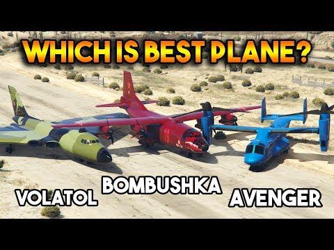 GTA 5 ONLINE : AVENGER VS BOMBUSHKA VS VOLATOL (WHICH IS BEST PLANE ?)