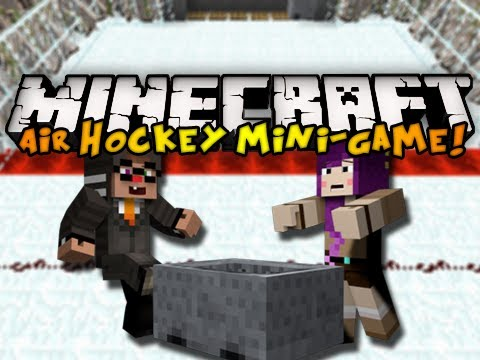 Minecraft Mini-Game: Air Hockey w/ ChimneySwift11 & iHasCupquake (HD)