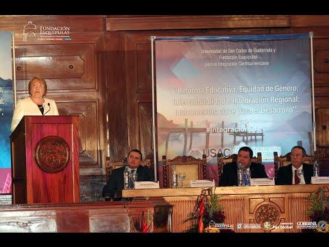 Michelle Bachelet: conferencia en Guatemala