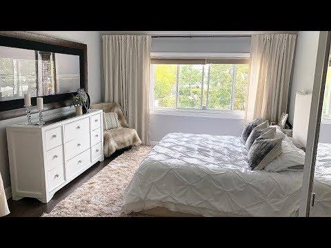 White Beige Bedroom Decor MAKEOVER!