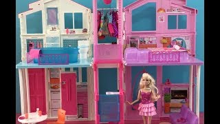 Barbie Life in the Dreamhouse Doll House Tour! Elsa Anna Barbie Full New Episodes in English!