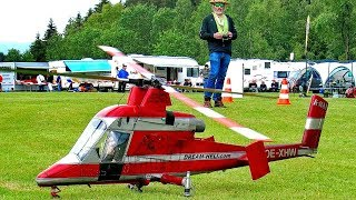 HUGE RC K-MAX 1200 COAXIAL SCALE MODEL TURBINE HELICOPTER FLIGHT DEMONSTRATION