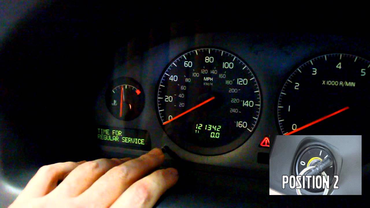 ipd Volvo Service Light Reset 2002-07 V70/XC70/S80 2002-09 S60 2005- S40/V50/C30/C70 - YouTube