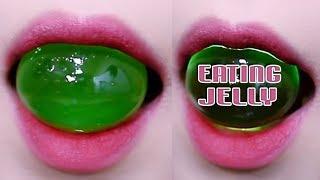 ASMR Japan green grapes Jelly (STICKY eating sounds)  LINH-ASMR