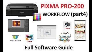PIXMA PRO-200 (part4) Driver Setup, Professional Print and Layout, Media Tool, Panorama Print