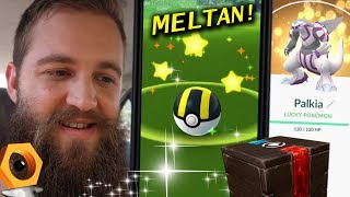 THE SEARCH FOR SHINY MELTAN + MY LUCKY COLLECTION (POKEMON GO)