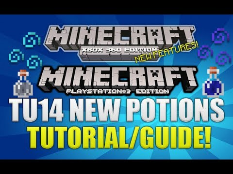 Minecraft Xbox 360 & PS3: TU14 NEW Potions Of invisibility & Night Vision (TUT/GUIDE)