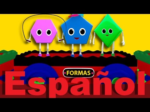 El tren de las formas | Canciones infantiles | LittleBabyBum
