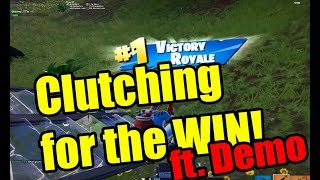 DEMO CLUTCHES EVERY FIGHT  | CRAZY AIM | HIGH KILL FUNNY GAME - (Fortnite Battle Royale)