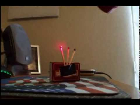 245mW 650nm Red Laser Lighting Matches