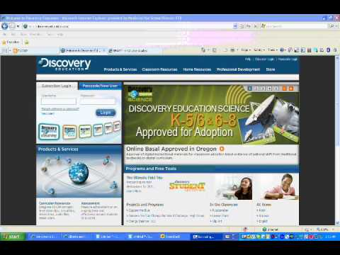 Discovery Education / Discovery Education Log on
