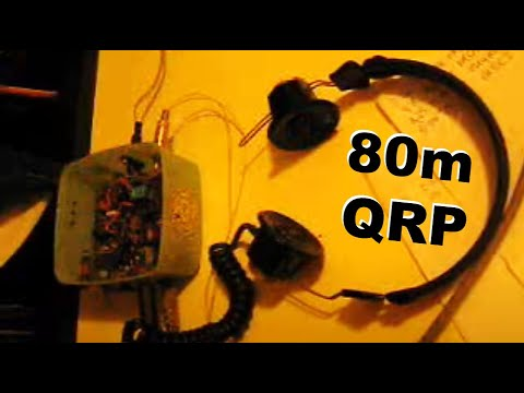 80m CW QRP transceiver demo