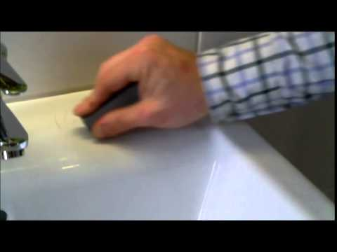 How to remove scratches from wash basins and toilets. china. pottery. porcelain