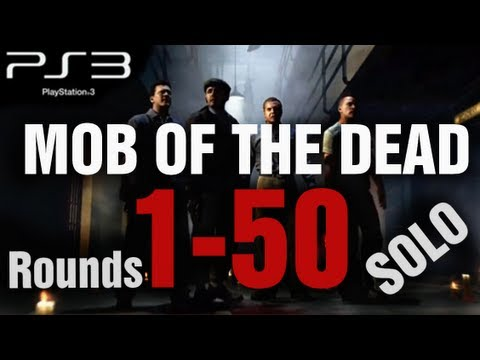 Mob of the Dead PS3 Rounds 1-50 Solo Strategy Gameplay LIVE - Black Ops 2 Zombies by TheRelaxingEnd