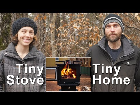How we heat a tiny home on just 2 cubic feet of wood!