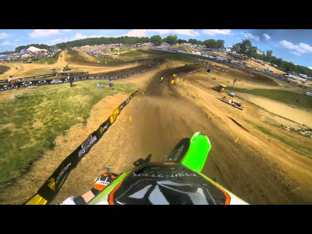 GoPro HD: Ryan Villopoto Full Moto 2 - Muddy Creek Lucas Oil Pro Motocross Championship 2013