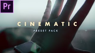 FREE Cinematic Preset Pack for Premiere Pro (CC 2018) + 4K Crop Bars
