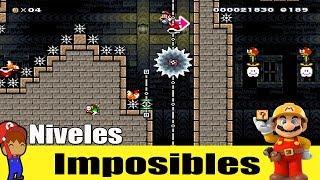 YO pense que eran Niveles sencillos - Super Mario Maker 99% imposible #37
