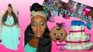 BABY SHOWER (GIRL) HAUL 2016 | Forever Chi-Chi