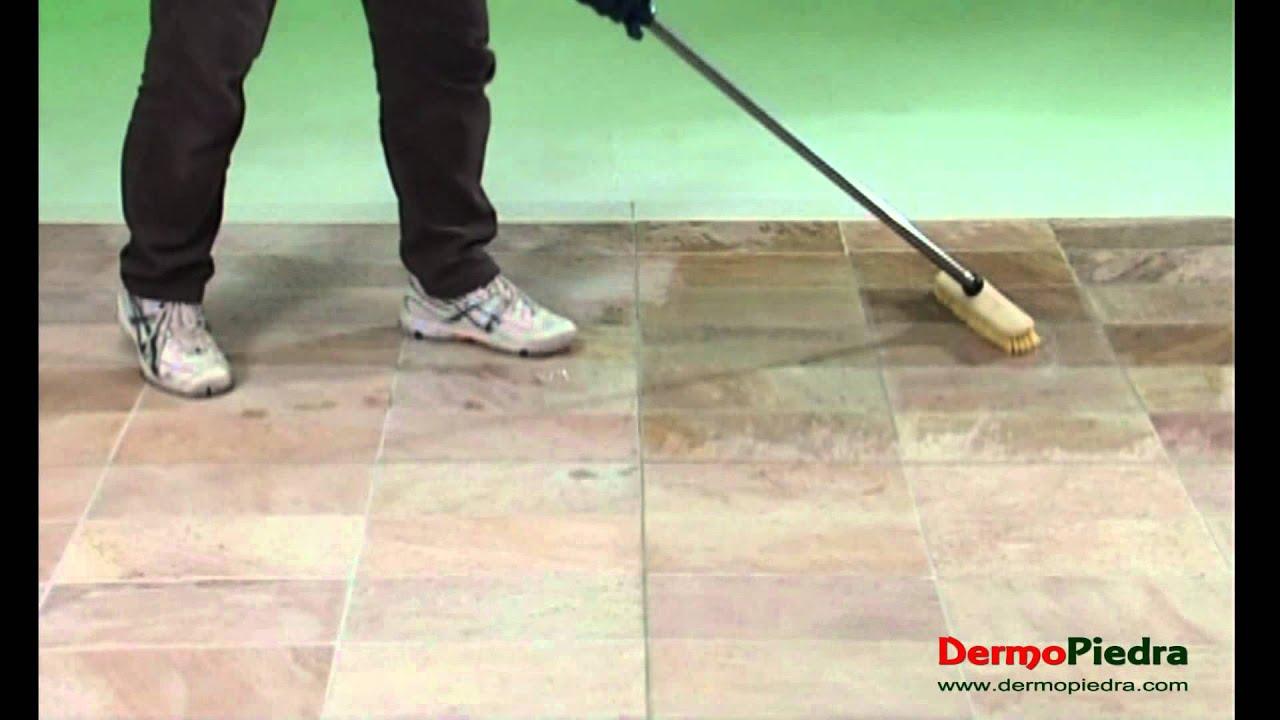Limpieza final de obra en piedras no pulidas youtube - Limpieza suelo porcelanico ...
