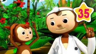5 Little Monkeys | Little Baby Bum | Baby Songs & Nursery Rhymes | Learning Songs For Babies