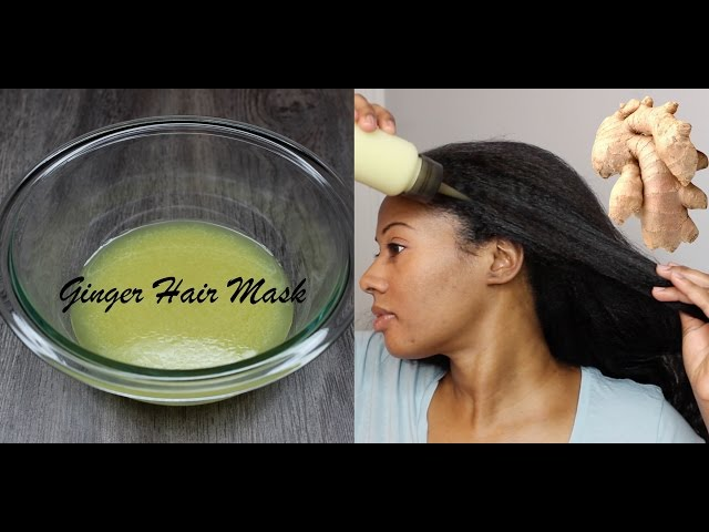 GET RID OF DANDRUFF & GROW HAIR! GINGER ROOT HAIR MASK!