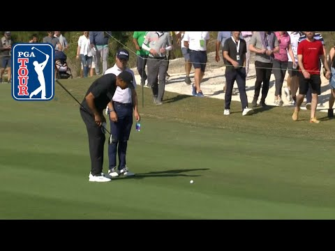 Tournament host Tiger Woods teases Justin Thomas at Hero World Challenge 2019