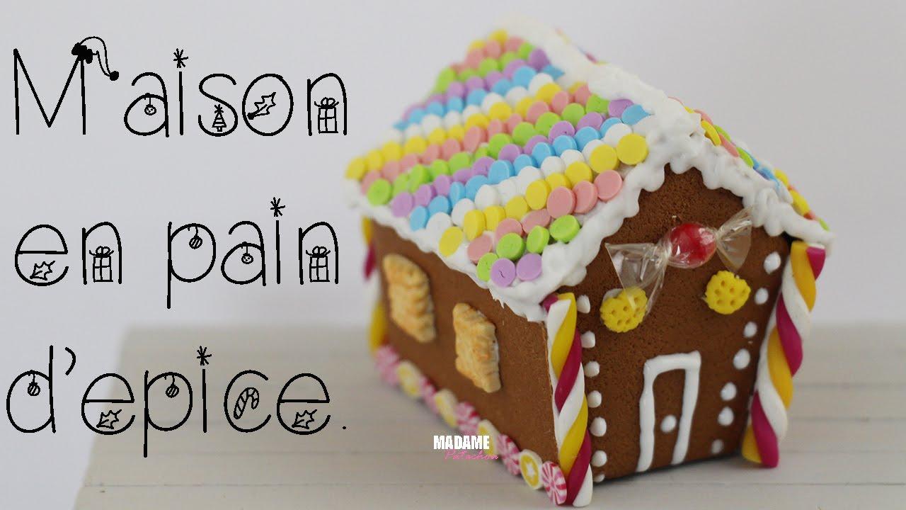 Lpe maison en pain d 39 epice gingerbread house tuto fimo polymer clay tutorial youtube - Kit maison en pain d epice ...