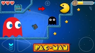 PACMAN ON MOON IN RED BALL 4 SUPER GRAVITY FALL WITH BOSS FIGHT BIG ADVENTURE