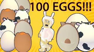 I Hatched 100 EGGS In Roblox Adopt Me