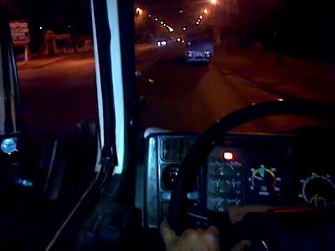 Scania 113 pente na turbina tirando cambios