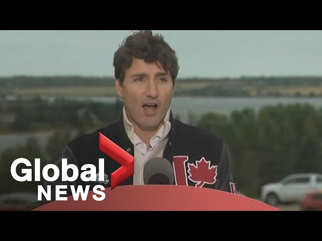 Canada Election Liberal leader Justin Trudeau holds rally in Prince Edward Island