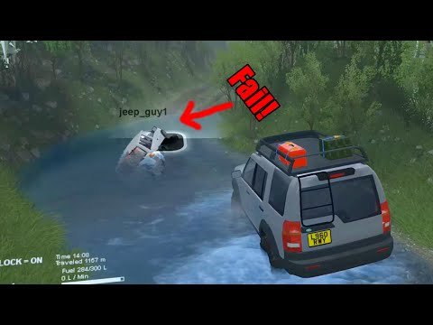 Spin Tires Land Rover vs Nissan Pathfinder with TC and JeepGuy OFF THE CLIFF!