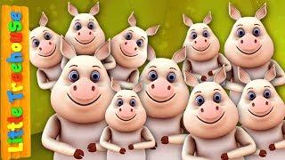 Ten In The Bed | Kindergarten Nursery Rhymes for Babies by Little Treehouse