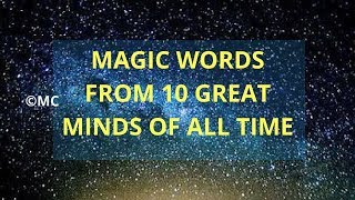 10 Great Minds Magic Words | All time | Einstein To Lincoln