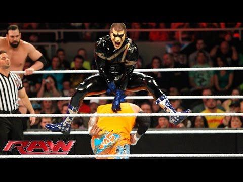 The Usos & Los Matadores Vs. Gold & Stardust & The Miz & Damien Mizdow: Raw, November 17, 2014 video