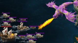 Gnawhelm VS Battle Fleet 42 & 43 - Defend Berk - Dragons:Rise of Berk