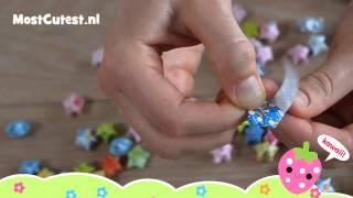 Mostcutest.nl - Lucky Star Vouwen Tutorial - How To Fold Origami