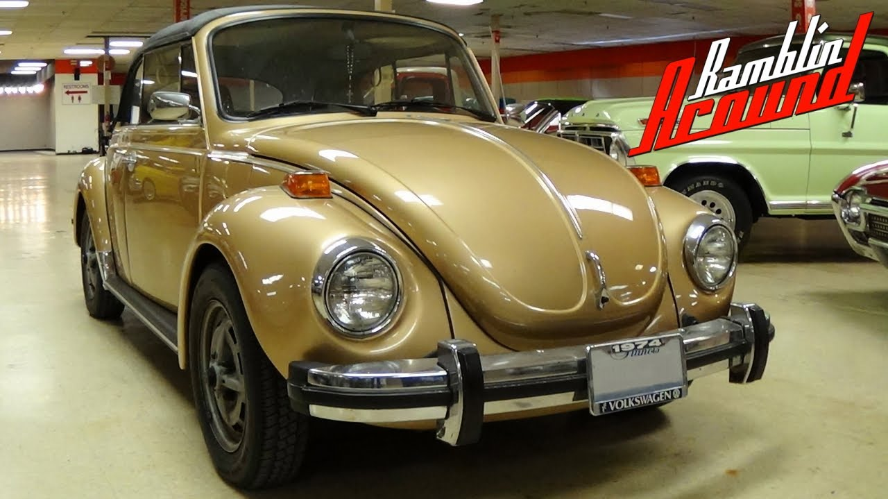 1974 Volkswagen Super Beetle Convertible - Possible Rare Sun Bug Edition VW - YouTube