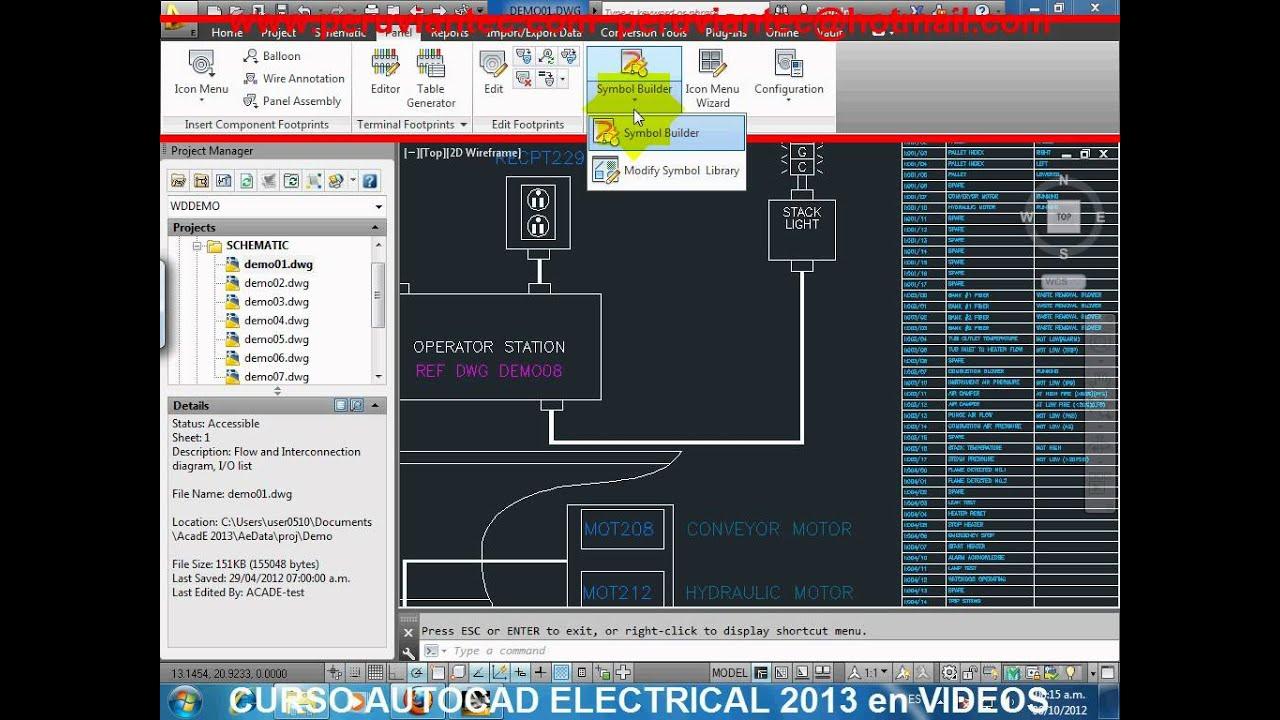 Curso Autocad Electrical 2013 Espa 209 Ol Video Tutorial