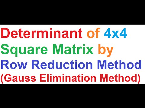 how to work out the determinant of a matrix