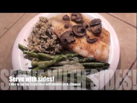 Whats For Dinner? Baked Tilapia Mushrooms, Rice &amp  Asparagus