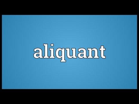 Header of aliquant