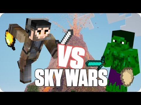 ¡gona Vs Hulk! Sky Wars | Minecraft video