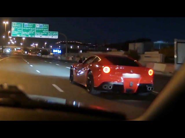 Exotic cars: Ferrari F12 Berlinetta crash caught on tape; McLaren P1 car crash - Compilation