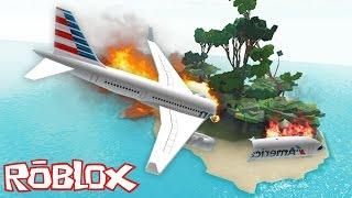 Roblox - The Island - PLANE CRASH INTO DEMON ISLAND!!