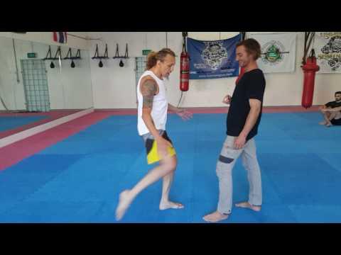 Thigh kick- for street self-defence, MMA, Muaythai